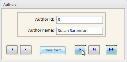 Microsoft Access Form Navigation Buttons