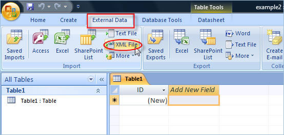 Click to Import the XML file